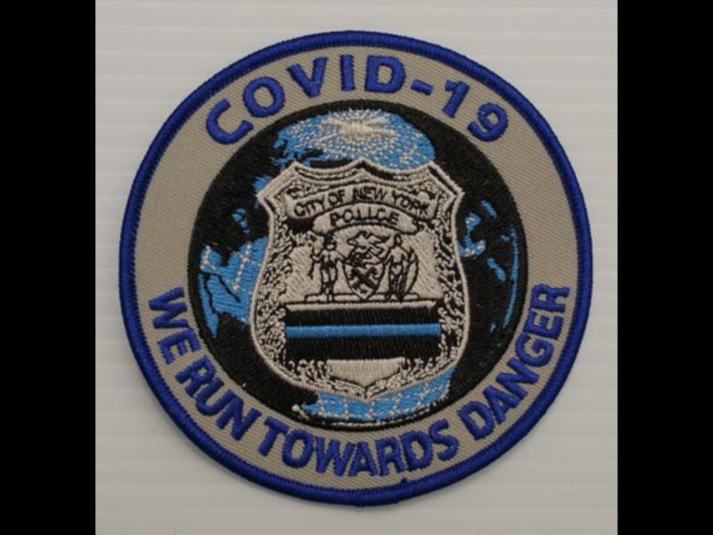 NYPD COVID2020THIN BLUE LINE PATCH 4 INCH