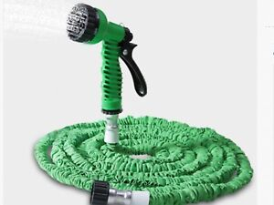 Flexible garden hose with nozzle,up to 50 feet