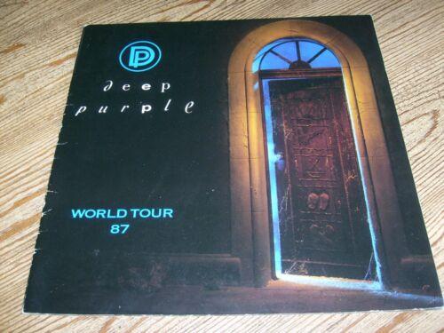 Deep Purple Concert Tour Program 1987  Ritchie Blackmore  Jon Lord  Ian Gillan