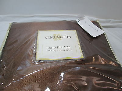 New  KENSINGTON LINING DANVILLE SPA BROWN DRAPERY PANELS Two (42x84) NIP