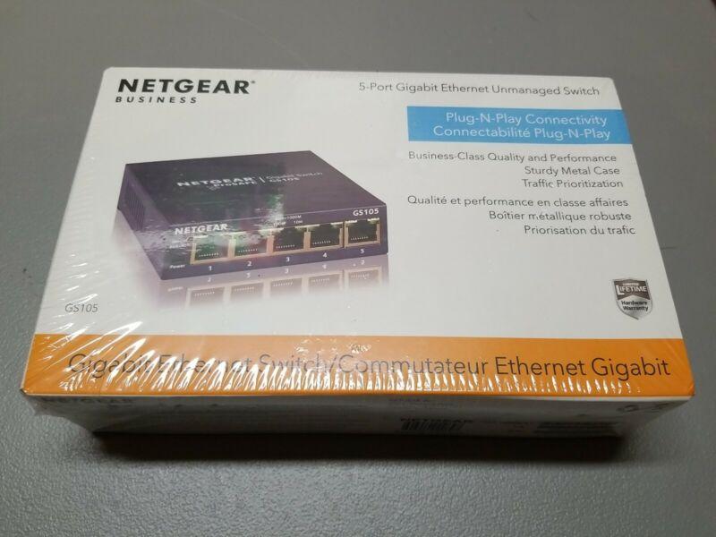 NEW SEALED Netgear GS105 ProSafe 5-Port Gigabit Desktop Switch