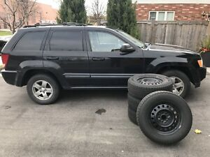 2007 Jeep Grand Cherokee Laredo + Set of 4 Winter Tires on Rims