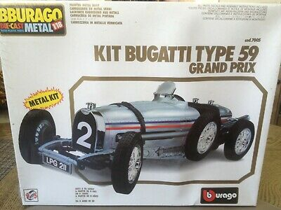 1983 Bburago Die-cast 1/18 scale Bugatti Type 59 Grand Prix Kit