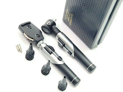 Professional Fiber Optic Ophthalmoscopeotoscope Ent Diagnostic Set.led2 Bulb
