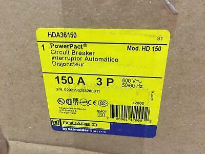 Square D Hda36150 Circuit Breaker 150a 600v 3 Pole New In Box Warranty