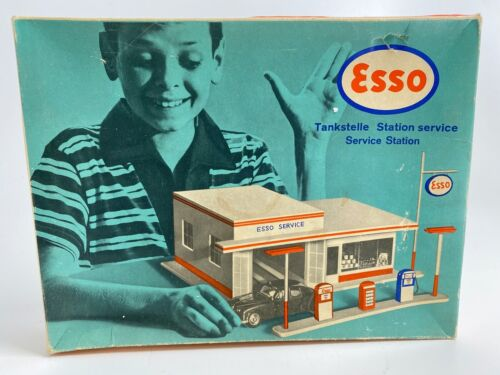 Vintage SWEDISH ESSO GAS SERVICE STATION EMPTY BOX