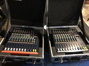Pair of soundcraft controllers epm