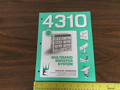 Weinschel 4310 Multiband Sweeper System Electronics Test Equipment Brochure