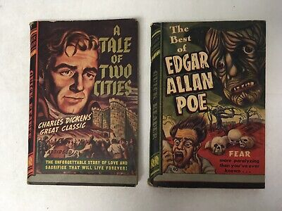 2 Quick Reader Mini Books- Dickens' Tale Of Two Cities & Best Of Edgar Allan