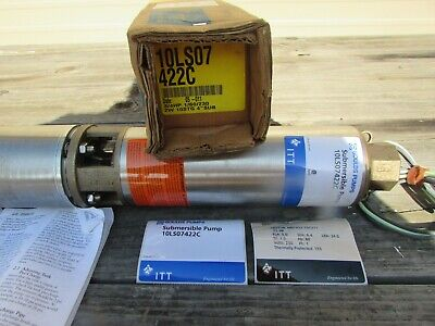 10ls07422c211 Goulds 10gpm 34hp 4 Submersible Well Pump 160-230v 2 Wire