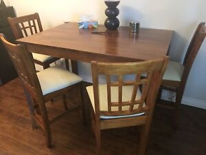 Folding table with 8 chairs