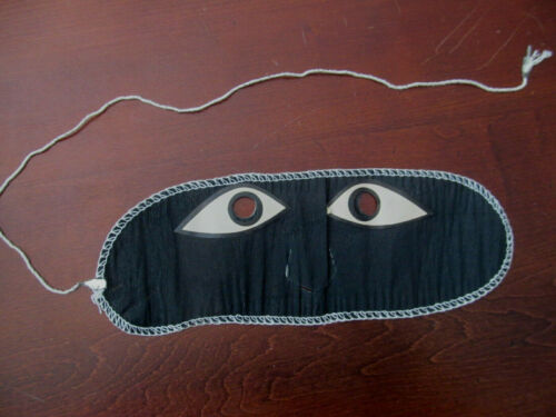 Vintage Black Crepe Paper HALLOWEEN Mask~Nose Cutout~Looks Unused!