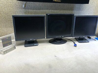 """3 X Acer AL1716 & AL1715 17"""" LCD Monitor"""