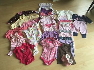 Girl's clothes 0-3 months
