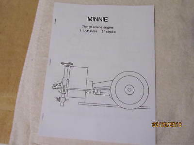 Minnie Small Gas Engine Blueprints Plans Hit And Miss Model. No Castings Needed