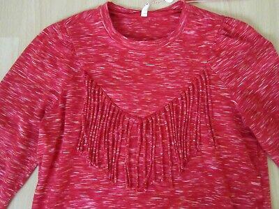 Blutsgeschwister Shirt Sweatshirt rot Fransen Gr. M NP: 69 - Geschwister Kostüm