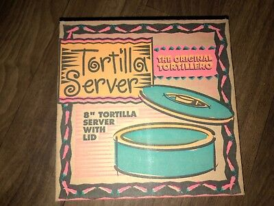New In Box Hs Inc The Original Tortillero 8 Tortilla Server With Lid- Blueberry