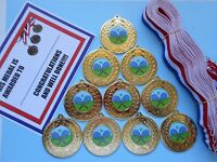 Tennis Medals X 10 Metal/50mm /gold -silver Or Bronze/ Certificates - fundraising and medals - ebay.co.uk