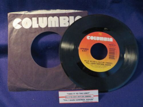 WILLIE NELSON/WAYLON JENNINGS To The Limit/Gain Control 45 RPM COLUMBIA RECORDS