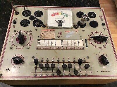 Heathkit Tc1 Vintage Dynamic Tube Tester Checker W Manual- Tested Works