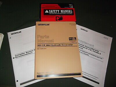 Cat Caterpillar 303-cr Mini Excavator Parts Manual Book Set Sn Dma00001-up