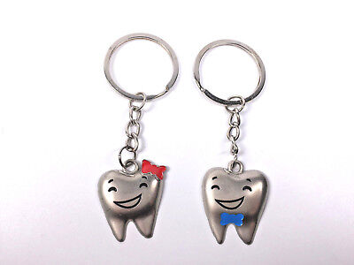 Teeth Key Chains Dental Orthodontic Dentist Gift Mini Couple Tooth 1 Pair