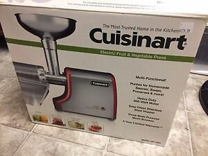 NEW! Cuisinart Electric Fruit and Vegetable Press