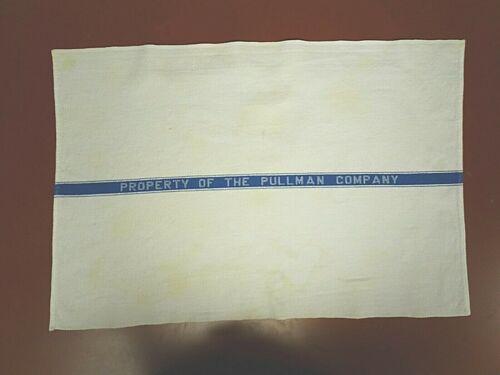 Pullman Company towels, pair