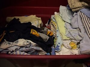 Large bin of baby boy 0-12 mos ( 125 )