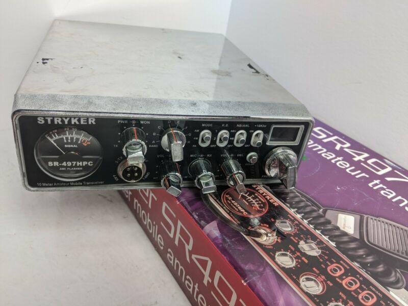 STRYKER SR497HPC 110 WATT 10 METER RADIO WITH 7 COLOR SELECTABLE FACEPLATE