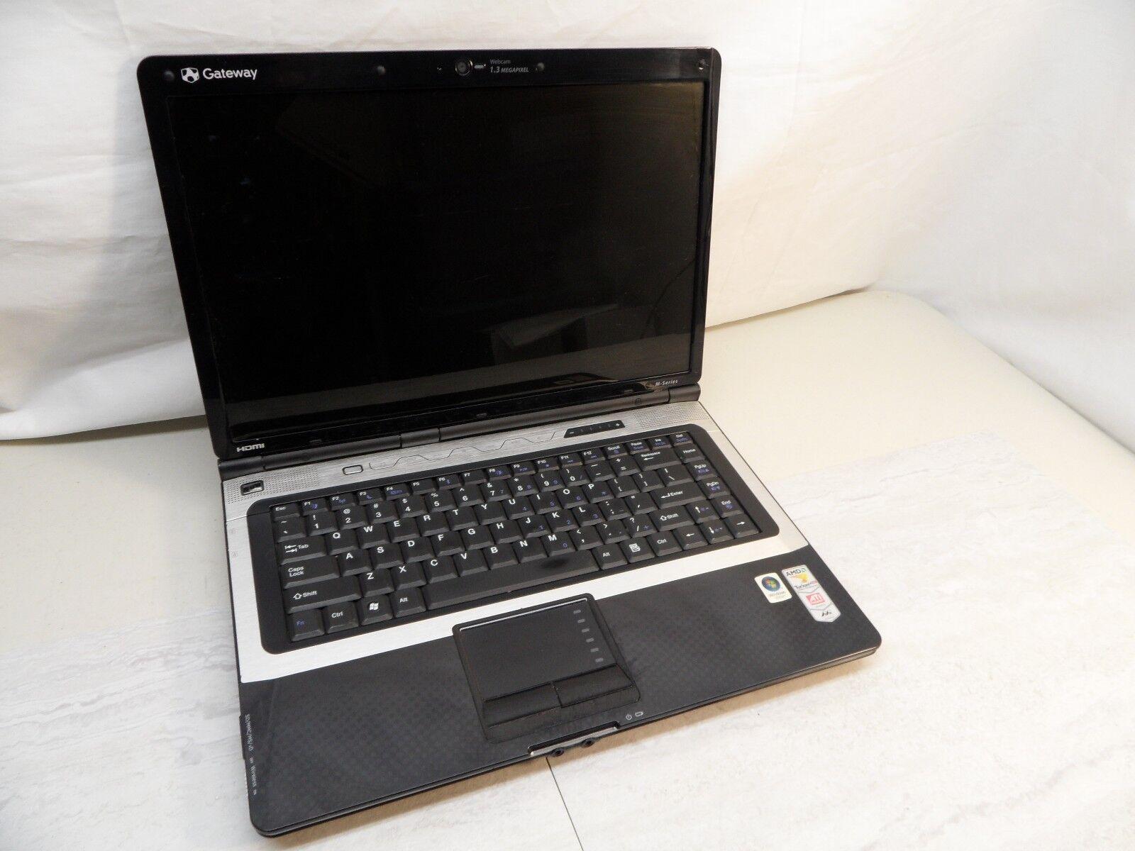 Gateway M-Series  W650A Parts Laptop 1.9Ghz 1.5Ghz No Hard Drive Posted To Bios