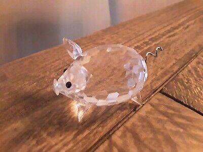 Swarovski Crystal Medium Pig Figurine