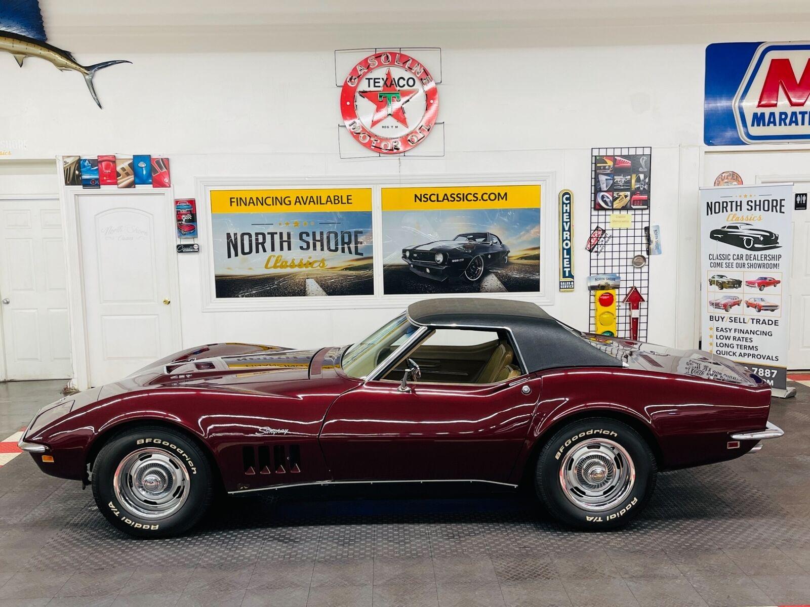 1968 Burgundy Chevrolet Corvette   | C3 Corvette Photo 4