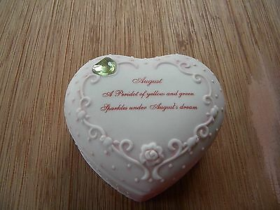 Collectible Porcelain Pink White Heart Shaped Trinket-Jewelry Box