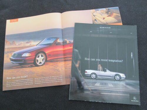 2001 Mercedes SL-class Sales Brochure R129 500 600 SL500 SL600 US Catalog