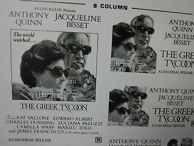 THE GREEK TYCOON Movie Mini Ad Sheet VTG Advertising Poster Clip Art Film