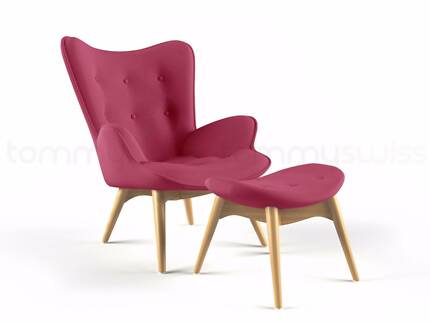 Ex-Demo Grant Featherston Lounge Chair - Pink