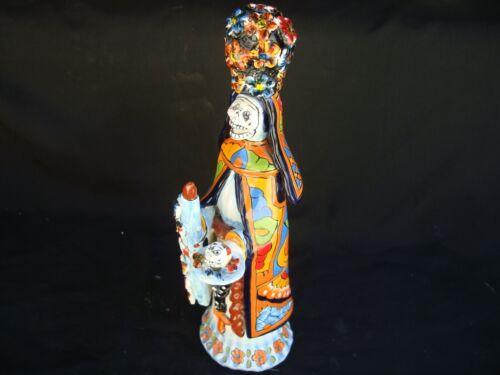 La Monja, Day of the Dead hand made Talavera, Catrina  figurine, Mexican art