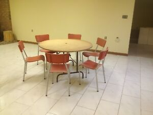 Banquet tables and chairs