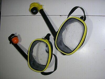 Francis VULCANO maschera sub vintage anni 70/80 con snorkel