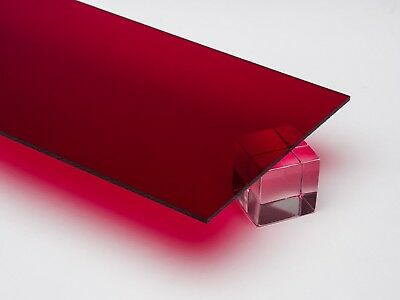 Red Acrylic Sheet - 24 X 24 X 6mm Thick 14 Nominal - 2 Pack