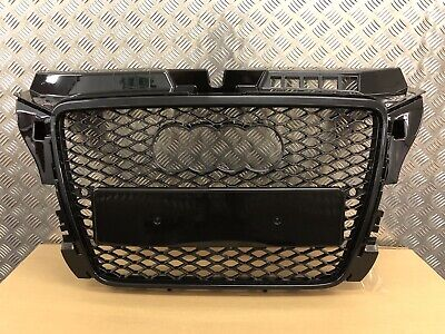 AUDI A3 S3 S-LINE RS3 STYLE GLOSS BLACK GRILLE 8P 2008-2013