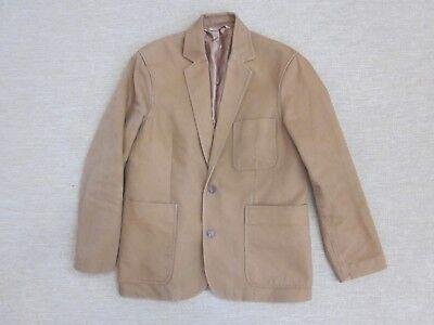 Duluth Trading Fire Hose Canvas Presentation Jacket Khaki Beige Sz. M  (A06) - Jacket Fire Hose