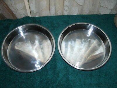 Cake Pan Stainless Steel 9 3/4 inches Cake Pan (2)