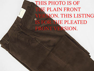 NEW! $149 Orvis Stretch Corduroy Pants (Cords)! 34 x 28 (28.5)  *Pleated Front* (Orvis Stretch Cord)