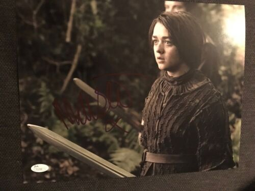 Game of Thrones Maisie Williams Autographed Signed 11x14 Photo JSA COA #7