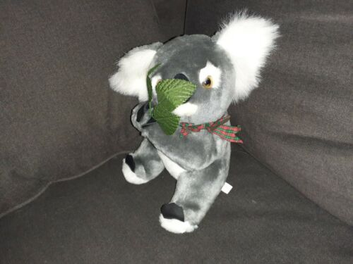 Carlington International Koala Plush Holding Eucalyptus