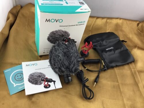Movo (VXR10) Universal Cardioid Microphone, Compact On-Camera Microphone - NOB