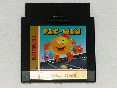 PAC-MAN - Cartridge Only - TESTED and WORKING - Nintendo NES, 1990  Tengen BLACK