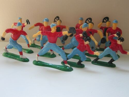 """11 Baseball & 7 Football Players Cake Toppers Decorations Vintage 2""""- 2 1/2"""""""